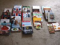 30 Cookery Books - Sold as one lot for £40 or separately for £2 (hardback/DVD) £1 (paper back)