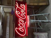 NEON COCA COLA SIGN/ COKE