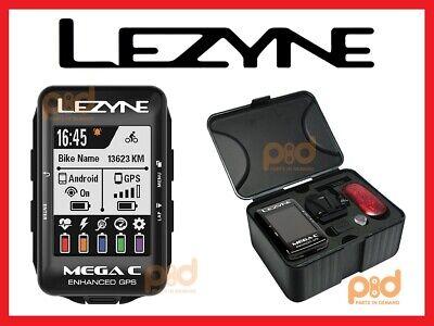 Black Lezyne Mega XL GPS Computer Wearable4U Speed Tool Bundle Cadence