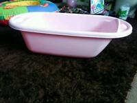 Mothercare pink baby bath large