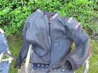 RST Leather Jacket Size 42 Black Harly Used