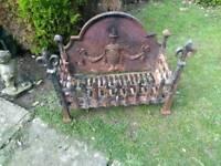 Vintage cast iron firegrate