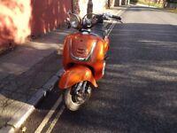 TAMORETTI RETRO 50 2009 scooter FOR SALE in Paignton Devon 1 Years MOT
