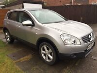 Nissan Qashqai Tekna dci 2.0 Diesel-heated leather-sat nav-reverse camera pan roof-Will Take Part Ex