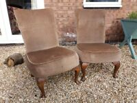 Two low vintage chairs