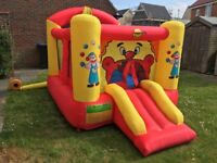 Happy Hop Slide Clown Bouncer Kids Bouncy Castle Inflates in 60 Seconds