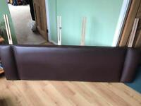 Super King Size Brown Faux Leather headboard