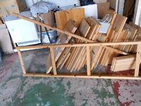 dismantled Ikea furniture