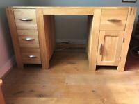 Natural solid oak desk (ALTO range from Oak Furnitureland)