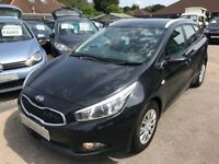 2013/63 KIA CEE'D 1 ESTATE 1.4 CRDI, MODERN LOOKING DIESEL ESTATE JUST £20 ROAD TAX, CHOICE OF TWO
