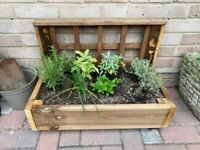 Rustic Garden Planter for herbs plants and flowers
