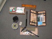 Fly tying equipment , also 2 reels with line