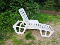 Sun Loungers white colour
