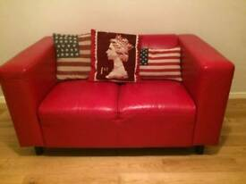 Ref Faux Leather Sofa