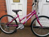 "RALEIGH kobo 24 purple bike 15 gears 24"" wheels Good condition"