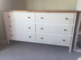 Chest of draws, nursery furniture, white