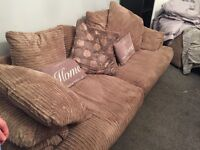 4 seater sofa, 2x armchairs and pouffe for sale.