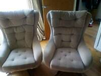 Pair of retro swivel mid century egg chairs