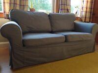 2-seater sofa grey/grey-blue good condition