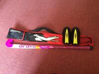 Grays Hockey stick with bag and shin pads.
