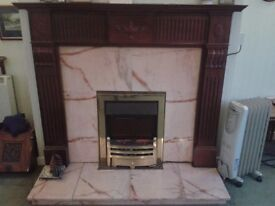 FIRESIDE SURROUND AND MARBLE HEARTH