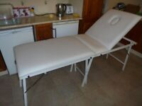 White Folding Padded Beauty Massage Table 6ft x 2ft. Collection RG5 Berkshire