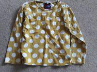 Yellow and white long sleeve tshirt