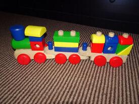 Melissa & Doug Wood Stacking Train