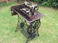 Singer sewing machine.