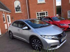 Honda civic 2014 (14) 1.6 ES diesel £0 tax 85 MPG New Shape 1 Owner
