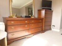 Stag Bedroom Furniture 2 bedside table 1 double chest of drawers 1 Tallboy (Job Lot or Individual)