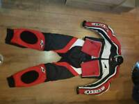 Women's alpinestar motorcycle leathers uk8/10