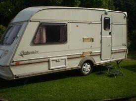 2 berth jubilee ambasurdor touring caravan
