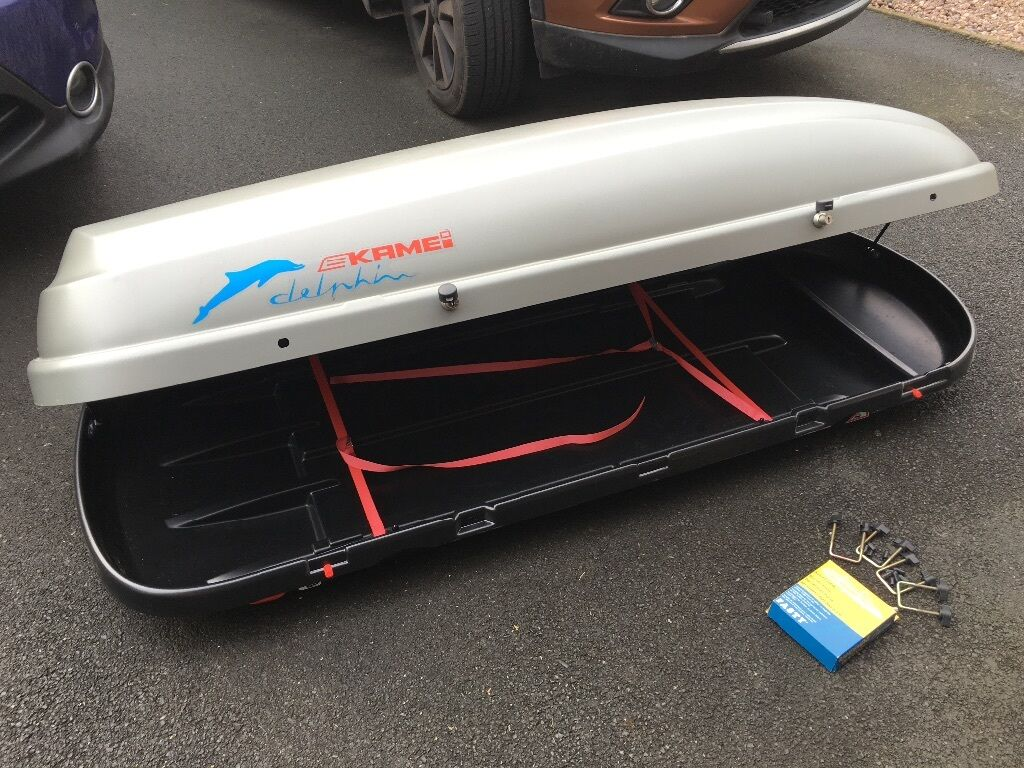 Kamei Delphin 340 K Roof Box Left Side Opening Roofbox