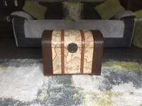 Wooden vintage storage chest
