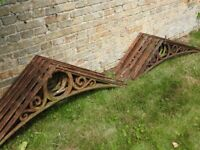 Victorian cast iron greenhouse roof trusses