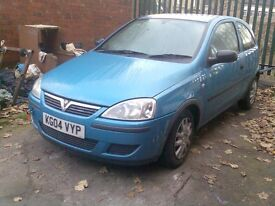 Vauxhall Corsa 1.2 2004 For Spares, Scrap or Repairs £100 No Offers