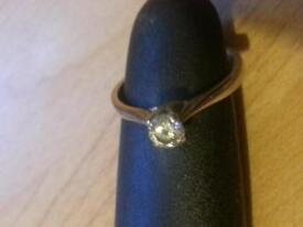 Diamond White Gold Ring Size N