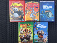 5 Children's Films Animated DVDs - used but very good condition