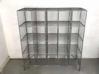 VINTAGE WIRE MESH LOCKERS WITH 20 COMPARTMENTS available 4 pcs