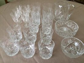 Lovely collection of cut glass tableware