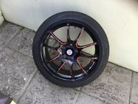 Alloy Wheels and tyres off Skoda vrs will fit most VW group