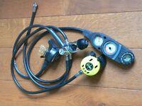 US divers conshelf 22 regulator, sea quest BCD, US divers aqualung dive bag.