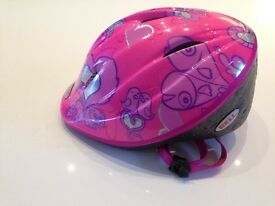 Bell pink cycle helmet for child