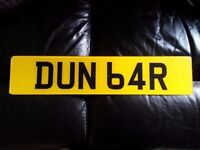 PRIVATE REGISTRATION NUMBER *********DUNBAR*********