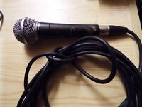 Shure Dynamic SM 58 Microphone, new cable.