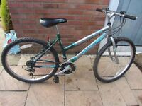 ladies mountain bike with new tires and bike lock £45.00