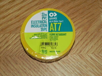 A Roll Of Uk Marine Electrical Tape Yellow At7 34 X 36 Yrd Flame Retardant