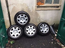 Peugeot 306 wheels with new same tires