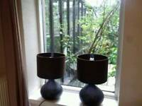 British Home Stores brown table lamps excellent condition